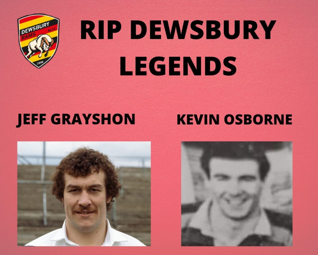 RIP Kevin Osborne and Jeff Grayshon- David Hyomes remembers two legends